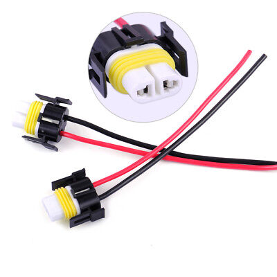 2x H11 H8 Female Wiring Harness Connector Wire Socket For Headlights Fog Lights