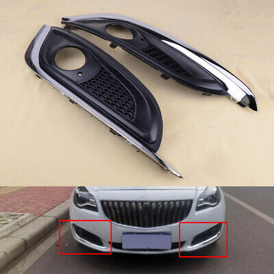 2x Front Bumper Fog Light Fog Lamp Cover Bezel Fit for Buick Regal 2014-2016 ge