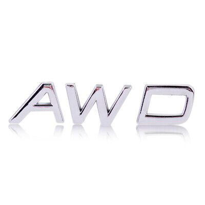 3D Metal AWD Aufkleber Emblem Plakette Decal Auto Logo Fit SUV Off Road Jeep LY ()