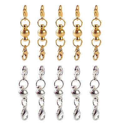 10x Karabiner Magnet Verschluss Schließe Metall Schmuck Fit Necklace Jewelry DIY