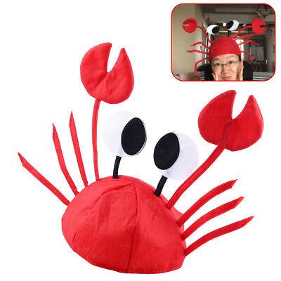 Krabben Mütze Rot Filz Tier Hut Einstellbare Lustiger Cap Kostüm Party Crab Hat