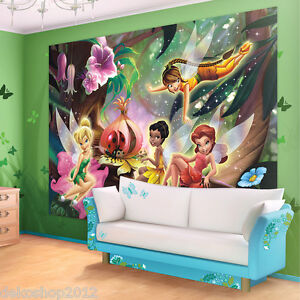 fototapete tinkerbell tapeten ebay. Black Bedroom Furniture Sets. Home Design Ideas