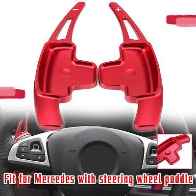 Pair/2pcs Rot Paddle Shifter für Mercedes-Benz A B C E Klasse CLA CLS E GLC GLE