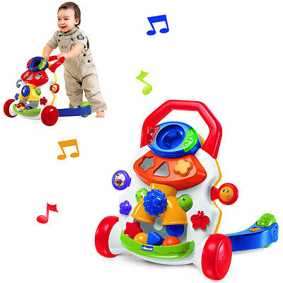 NEW CHICCO BABY STEPS 2 IN 1 PUSH ALONG WALKER / STOP AND PLAY ACTIVITY CENTRE
