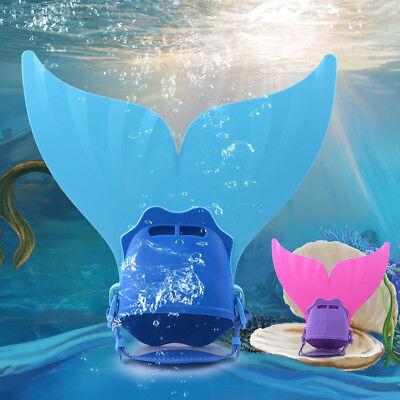 Kinder Mermaid Swim Fin Schwimmen Fuß Flipper Meerjungfrau tauchen Monoflossen