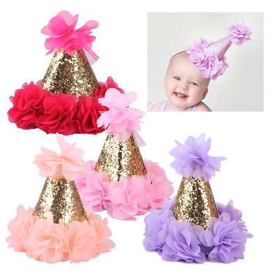 Kinder Baby Happy Birthday Papphut Hut Geburtstag Deko Party Hüte Fasching Cap