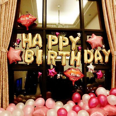 HAPPY BIRTHDA Folienballon Luftballon Geburtstag Party Buchstaben Silber Ballon