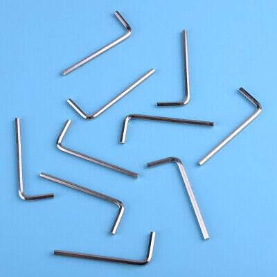 10x 3mm llave Allen L hexagonal herramienta brazo largo destornillador métrico