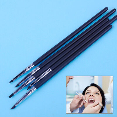 5pcs Dental Silicone Brush Pen Adhesive Composite Resin Cement Porcelain Tooth