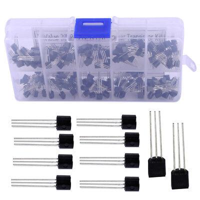 200 Pcs 10 Value Npn Pnp Power Transistor To-92 Assortment Box Diy Kit New