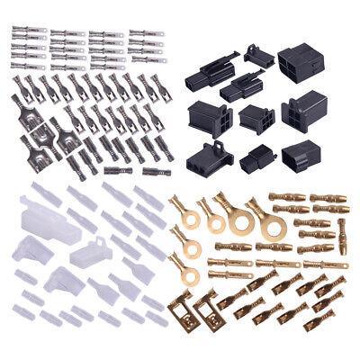 Motorcycle Connectors Wiring Wire Loom Harness Terminal Bullet Plug Repair Kit~