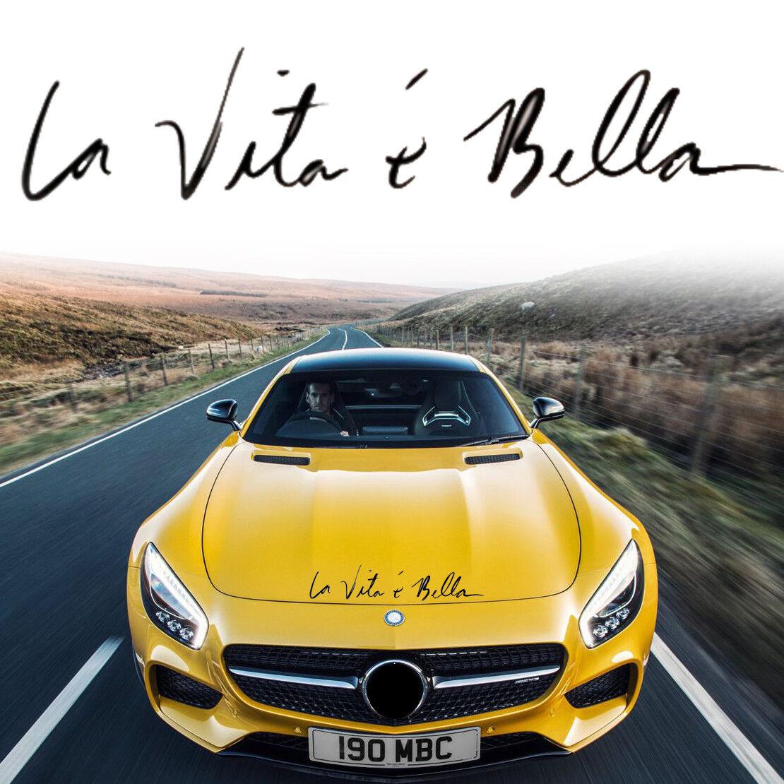 "/"" La Vita E Bella /"" DIY Car Sticker Life is Beautiful Styling Quote Vinyl Decal"