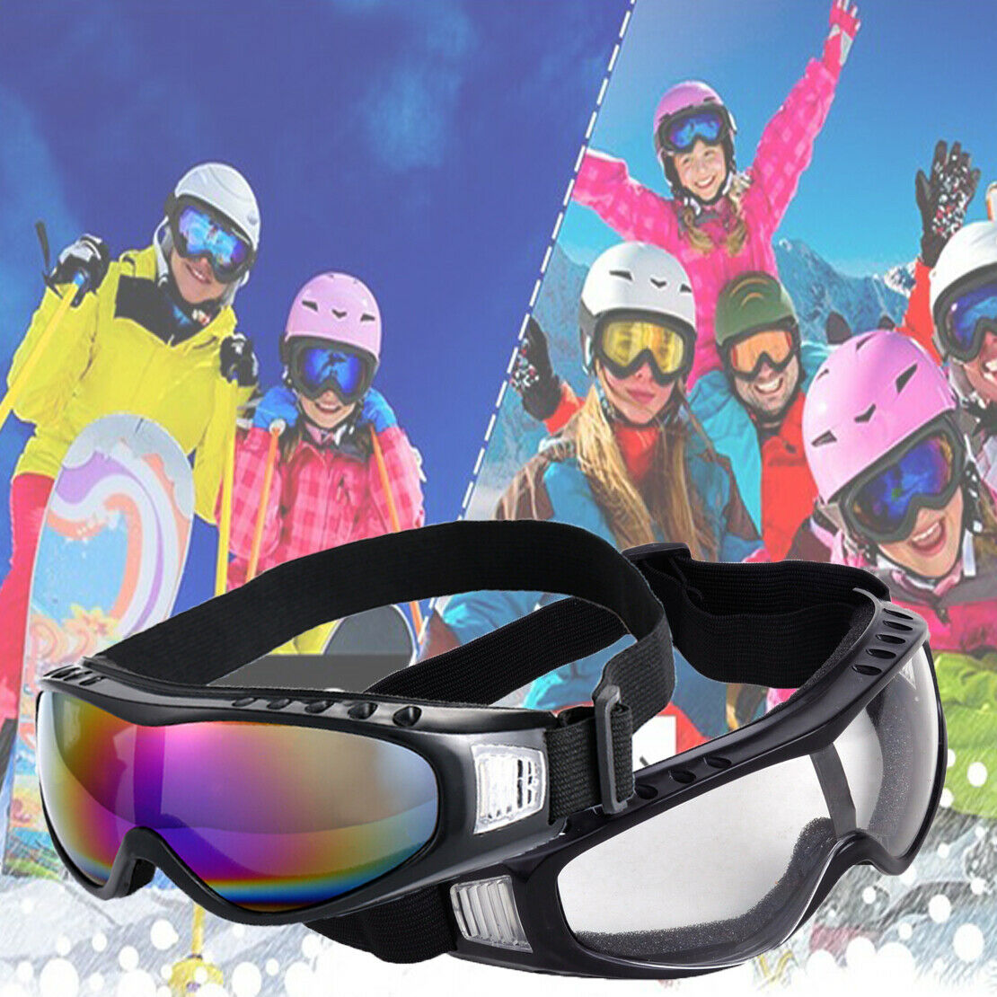 2X Ski Snowmobile Sun Glasses Eyewear Chromatic//Silver Winter Snow Sport Goggles