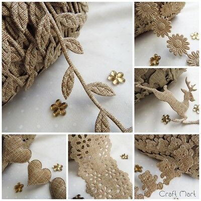 Hessian Burlap Jute Style Lilen Trim Ribbon Craft sewing rustic wedding folk Jute Trim
