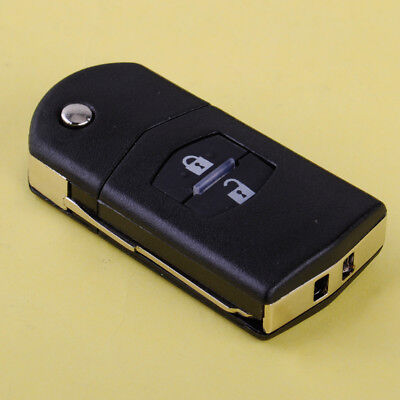 2 Buttons Flip Folding Remote Key Fob Shell Case Replacement Fits Mazda 3 5 6