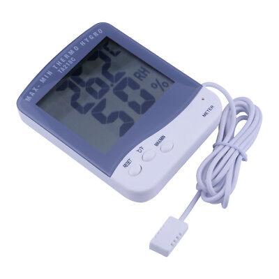 Digital Egg Incubator Quail Pheasant Pet Cage Thermometer Hygrometer Probe New