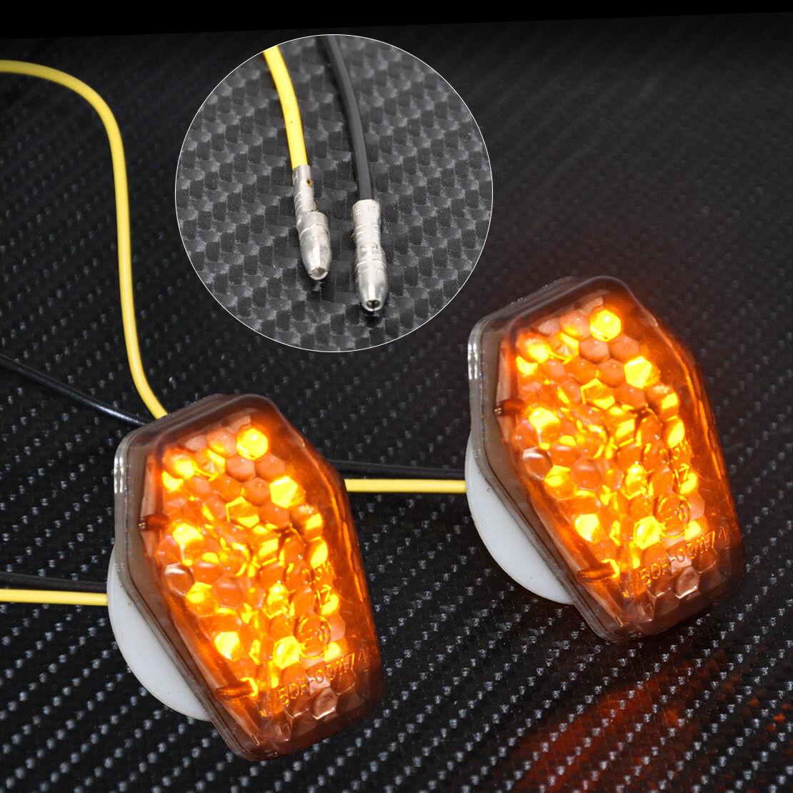 Pair LED Turn Signal Lights Indicator For Suzuki GSXR600 GSXR750 GSXR1000
