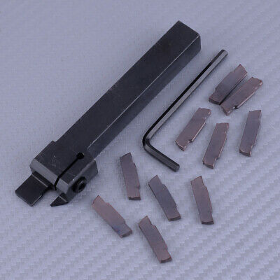 Cut-off Grooving Parting With 10pcs Mgmn300 Insert Mgehr1212-3 Lathe Tool Bar