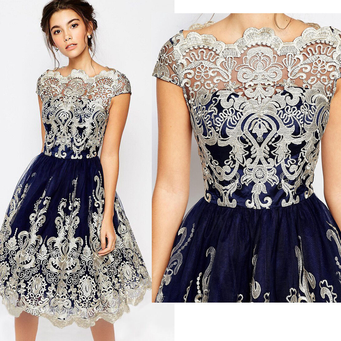 22b0b2ce54f4 Brand New Short Lace Dress Prom Evening Party Cocktail Wedding Dresses