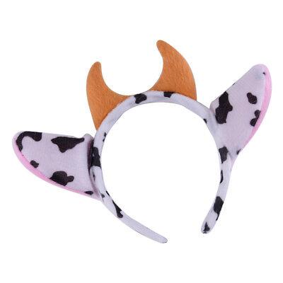 Kuhohren Haarreifen Tier Ohren Stirnband Haarschmuck Party Cosplay Kopfschmuck
