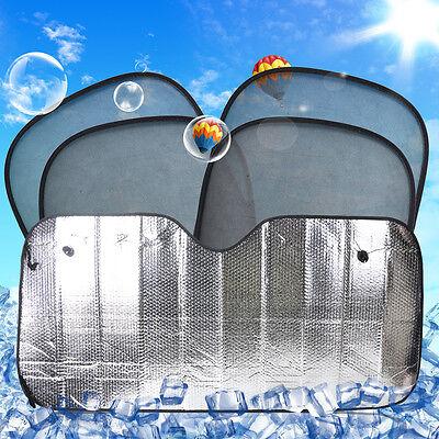 Neu 5x Faltbare Front Heckscheibe Seitenfenster Sonnenschutz Windschutzscheibe