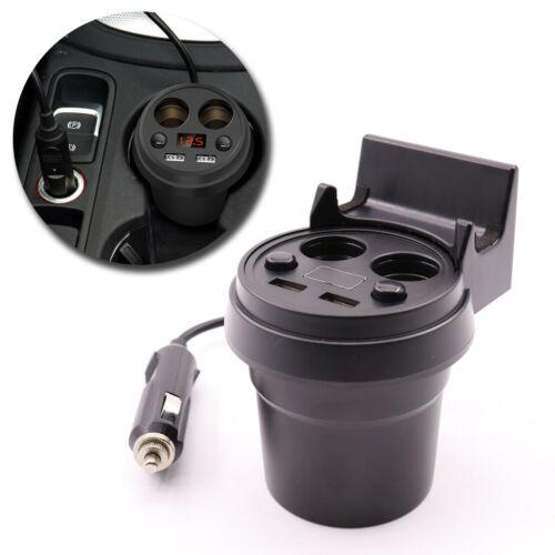 Car 2 USB Port Dual Socket Cigarette Lighter Charger