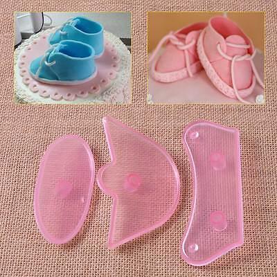 Deko DIY Fondant Kuchen Torten Kunststoff Baby Schuhe Ausstecher Ausstechform
