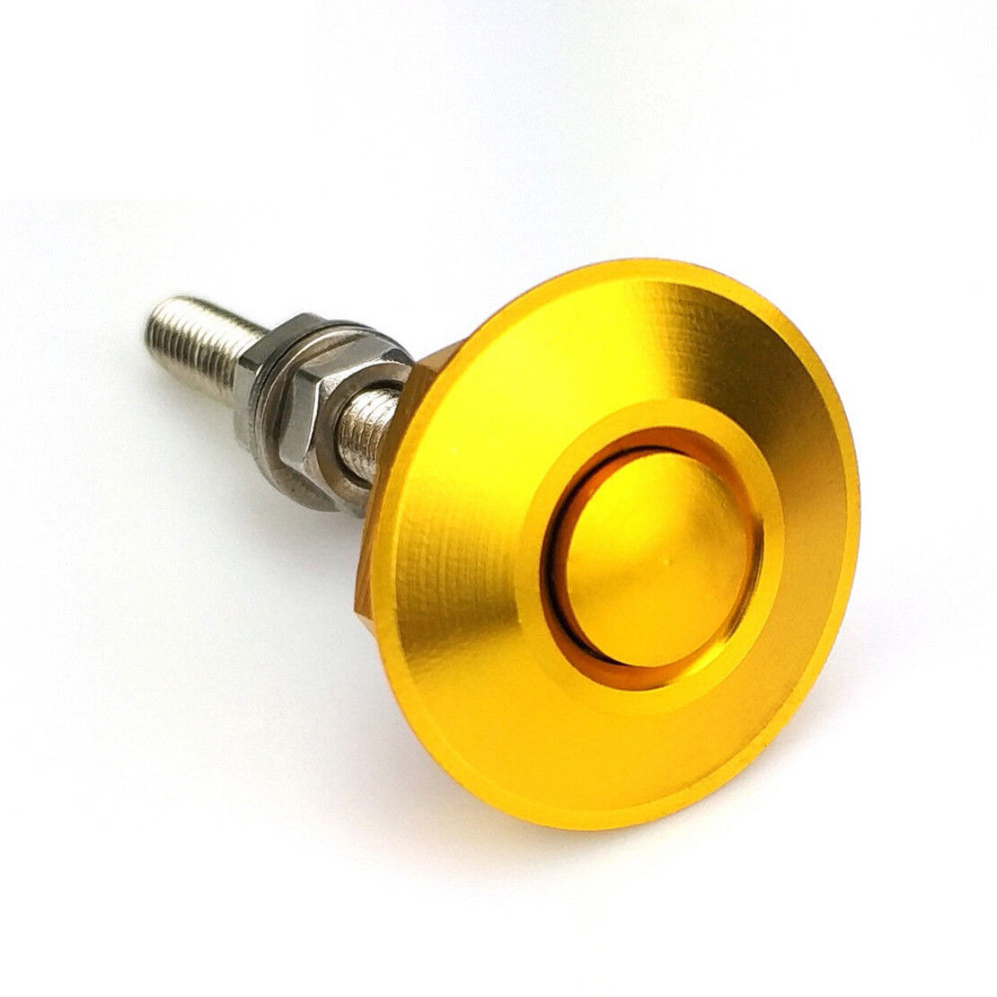 Yellow Quick Release Car Push Button Hood Pin Lock Low