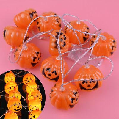 10 Kürbis LED String Licht Muster Laterne Lampen - Halloween Dekor Muster