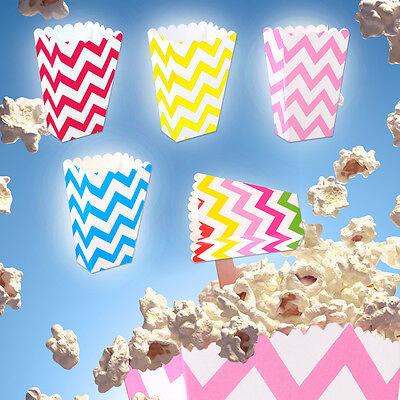 36Stk Gestreifte Popcorn Box Zucker Snack Popcorn Tasche Papierkasten Party Neu