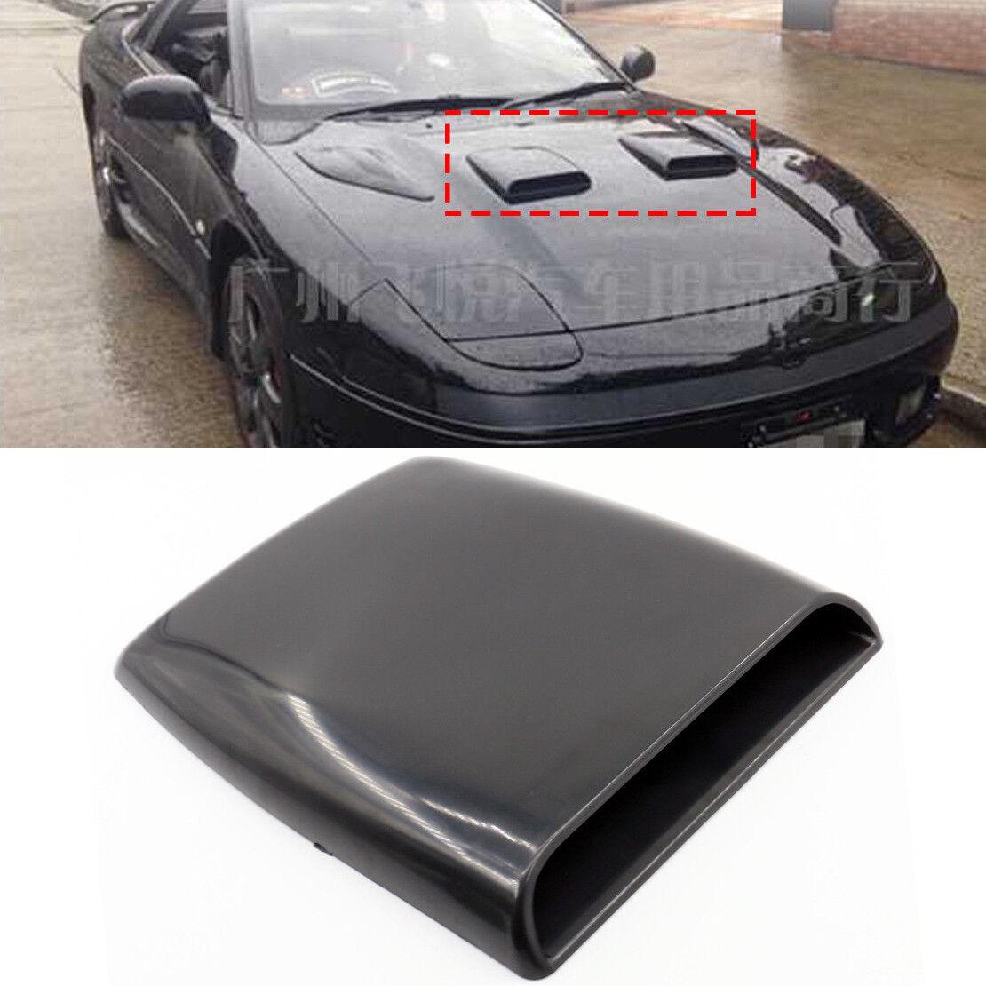 黑色 Car Air Flow Vent Hood,Auto Decorative Air Scoop Flow Intake Hood Vent Bonnet Universal DIY Style Black 2X