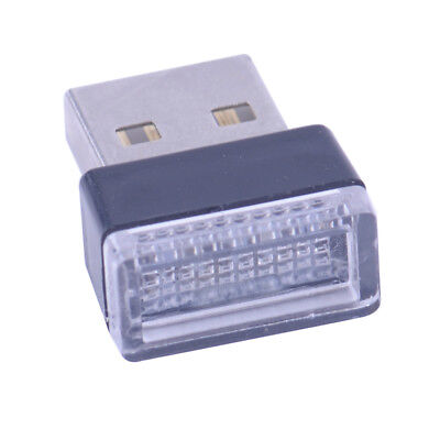 Mode Mini USB Blue LED Auto Innenbeleuchtung Neon Atmosphäre Ambient Lampe