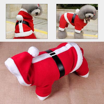 Hund Weihnachten Kostüme (Mode Haustier Welpe Hund Katze Weihnachten Santa Kleidung Kostüm Outfit Mantel)