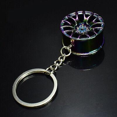 Colorful Hot Creative Wheel Hub Rim Model Man's Keychain Car Key Chain Cool (2005 Model Toyota Yaris)