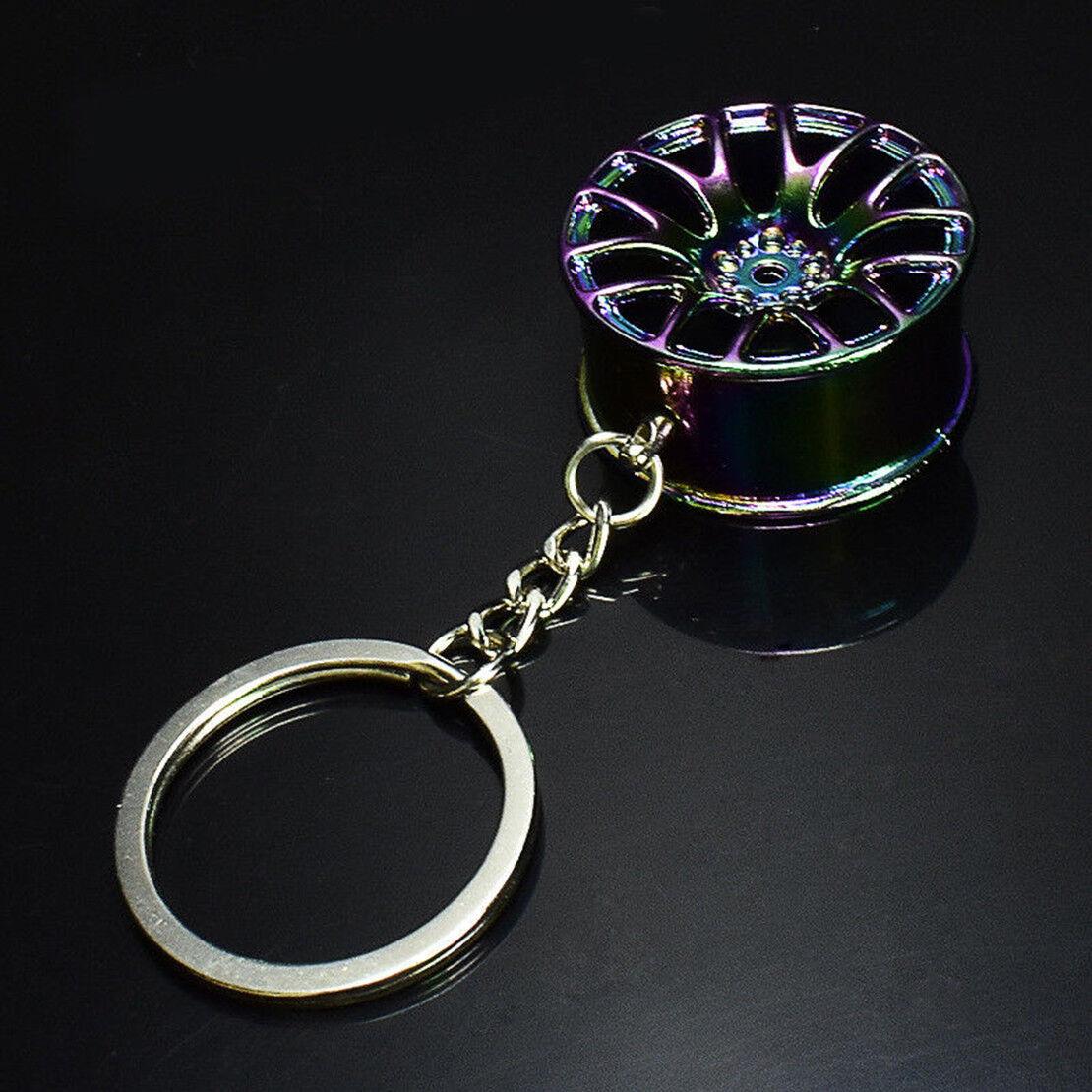 New Creative Wheel Hub Rim Model Man/'s Keychain Car Key Chain Cool Gift Hot