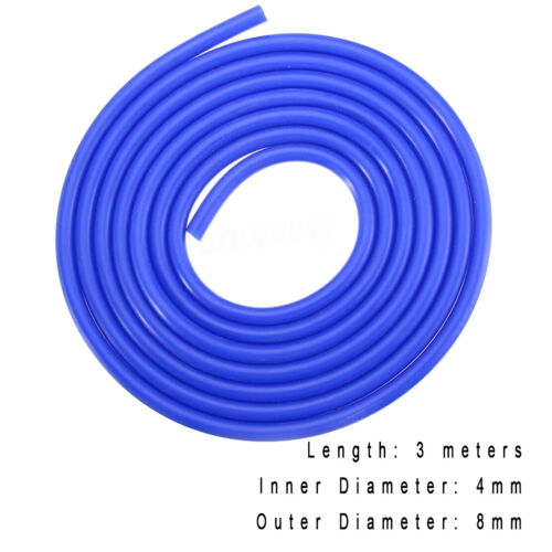 3 Meters Blue Silicone Hose For High Temp Vacuum Engine Bay Dress Up 8Mm P2 for Smart Fortwo