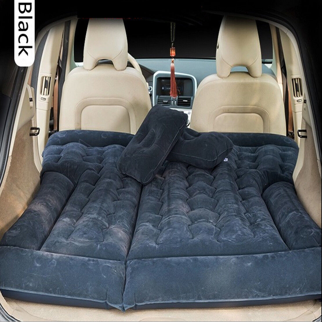 Black Suv Car Inflatable Mattress Travel Back Seat Air Bed Durable Camping Ebay