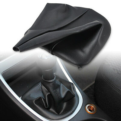 For 2001/2008 PEUGEOT 307 New Black PU Leather Gear Cover Gaiter