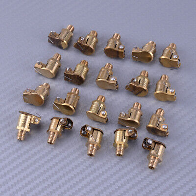 20pcs 6mm Thread Dia Brass Oil Lubricating Part Spring Cap Copper Grease Cup