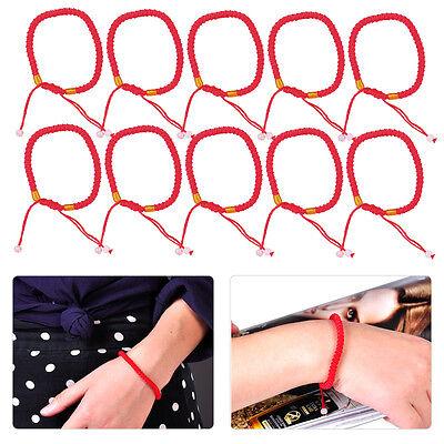 Neu Geflochten Glück Rote Schnur Armband Armspange Chinesisch Geschenk Schmuck (Chinesische Rote Schnur Armband)