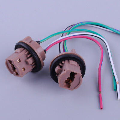 2pcs LED Brake Bulb Turn Signal Lights Sockets 7443 7440 T20 Wire Harness Lamp