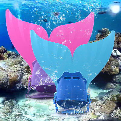 Kinder Mermaid Swim Fin Monoflosse Schwimmfuß Flipper Meerjungfrau Flossen