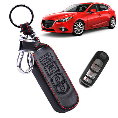 Remote 4 Button Leather Smart Key Case Cover 2017 for Mazda 3 6 CX5 CX7 CX9 New