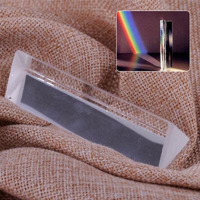 8cm Optical Glass Triangular Prism Physics Teaching Light Spectrum Experiments