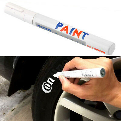 1x White Car Tyre Tire Tread Rubber Paint Pen Markers Pen Permanent Waterproof