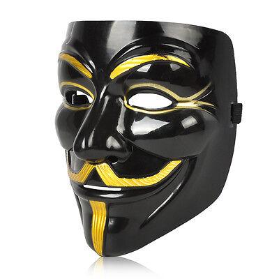 V wie Vendetta Maske Anonymous Guy Fawkes Anonymous Occupy Karneval Kostüm NEU