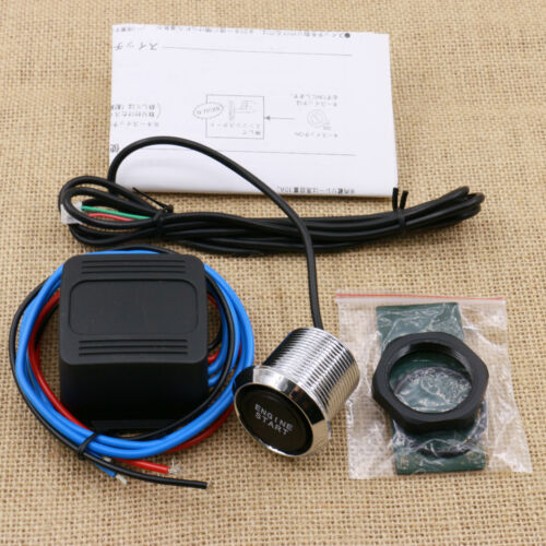 Universal DIY Car Blue LED Engine Start Push Button Switch