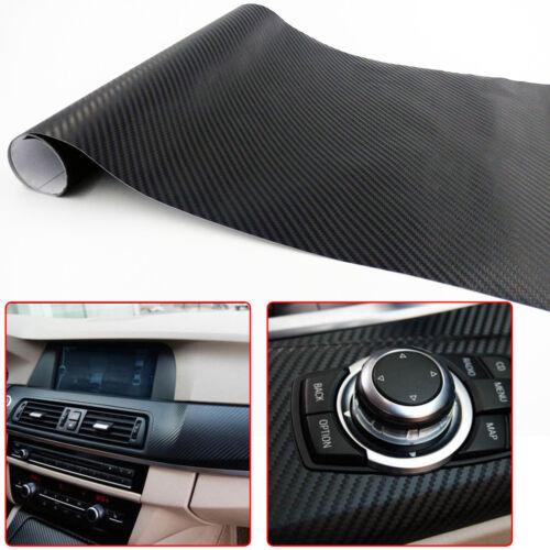 """12"""" X 50"""" 3D Carbon Fiber Vinyl Car DIY Wrap Sheet Roll"""