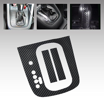 LHD For VW Golf MK6 GTI R20 AT Carbon Fiber Gear Panel Sticker DSG Panel Decal