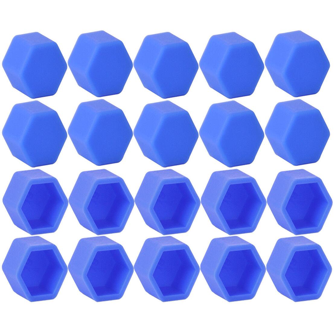 20x Blue Car Wheel Nut Lug Dust Cover Cap Protector Tyre